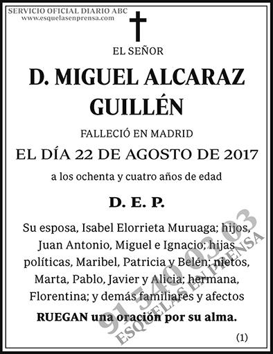 Miguel Alcaraz Guillén